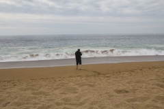 Fotos machen von den Wellen.