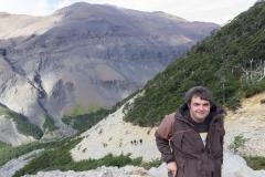 Torres del Paine: ging teilweise steil nach untena