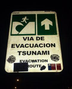 ausgeschilderte Tsunami-Fluchtroute in Valparaiso