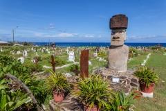 Osterinsel: der Friedhof von Hanga Roa
