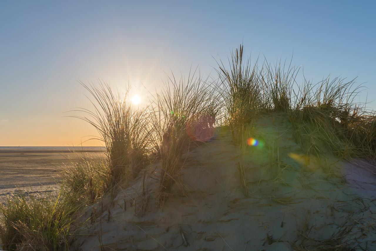 Borkum - Sonnenuntergang am Strand
