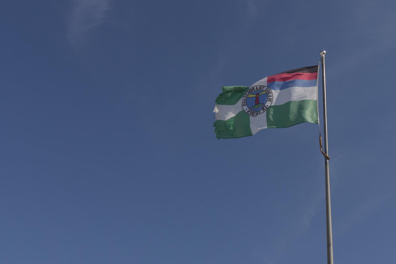Borkum - die Fahne der Insel