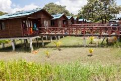 Guayaquil - Isla Santay - die Häuser im kleinen Dorf