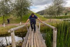 Laguna de Colta  - die Brücken waren nicht soooo stabil ;-)