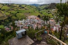 Salinas in den Anden - Blick auf das Dorf