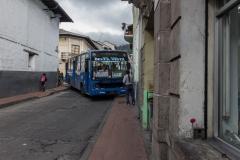 Quito - In der Innenstadt ist wenig Platz.