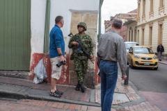 Bogota - die Innenstadt wird vom Militär bewacht