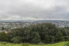 Auckland - Blick von Mount Eden auf die Skyline