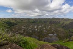 Der Rano Kau Krater von der anderen Seite