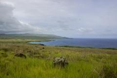 Osterinsel: am Vulkan Puakatike/Poike, bei dem Wetter hat es etwas von Irland