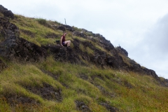 Osterinsel: am Vulkan Puakatike/Poike - mit Klettereinlage