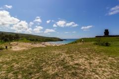 Rapa Nui - Anakena - Blick auf den Strand