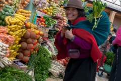 Riobamba - gefühlt beladen sich einige der Frauen mit ihrem eigenen Körpergewicht nochmal