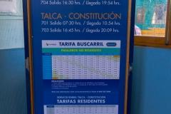 Der Buscarril fährt nur 2 mal am Tag, Morgens und Nachmittags.