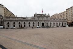 Der Präsidentenpalast, wo u.a. Allende regiert hatte