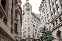 Das erste Hochhaus in Santiago...