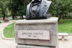 ein Geschenk von der USA. Lincoln soll daran erinnern, das Chile das erste Land in Lateinamerika ohne Sklaven war