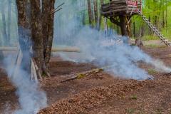 Indianer-Rauchzeichen.
