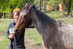 Auf der Ranch selbst gabs natürlich auch Kontakt zu den Tieren.