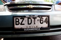 chilenisches Kennzeichen