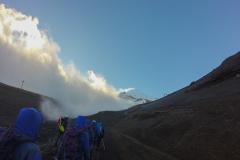 Vulkan Villarrica - kurz bevor es losging