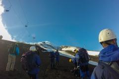 Vulkan Villarrica - ein Teil der Gruppe
