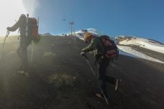 Vulkan Villarrica - Claudio, der Chef
