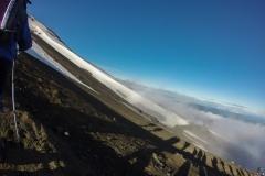 Vulkan Villarrica - Schattenspiele am Grat