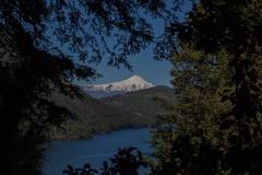 Im Nationalpark Huerquehue - Noch mal der Blick auf den Villarrica