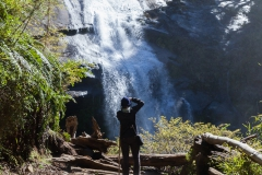 Im Nationalpark Huerquehue - einer der beiden Wasserfälle