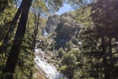 Im Nationalpark Huerquehue - der zweite Wasserfall