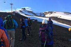 Vulkan Villarrica - noch ein Teil der Gruppe.