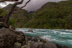 Saltos del Petrohué - da war es auch richtig brausend und laut