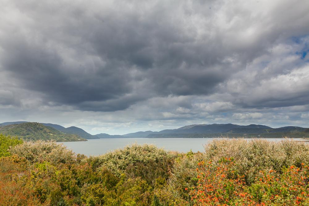 Nationalpark Chiloé - trotz Bewölkung eine schöne Landschaft