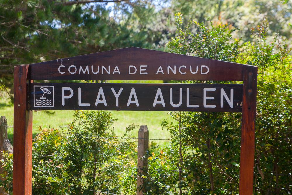 Chepu - das letzte Hinweisschild zum Strand 4km vorher