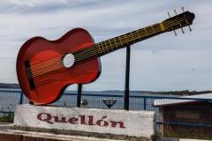 Chiloé - Quellón - ein Denkmal an der Uferpromenade
