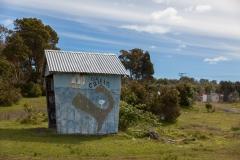 Chiloé - Cailin - könnte fast ein Bushäuschen sein, nur ohne Straße