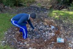 Chiloé - Cailin - der Festplatz bzw der Teil, der als Küche genutzt wird