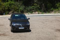 Straße der sieben Seen - Provinz Neuquén in Argentinien - unser Mietwagen von vorne