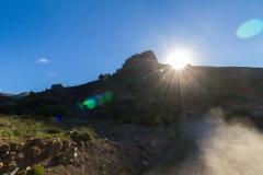 Ruta 63 zum Paso Córdoba, Argentinien - wir wirbeln ganz schön Staub auf