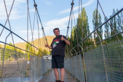 Hängebrücke über den Rio Limay, Argentinien - ging diesmal :-)