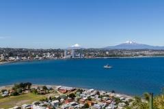 Beide Vulkane im Panorama.