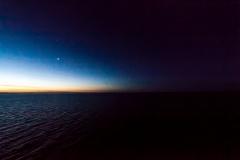 Auch eine Stunde später war noch ein wenig Helligkeit am Himmel. Zusammen mit dem Mond.