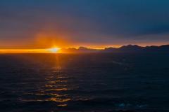 irgendwann kam die Sonne auch kurz zwischen Horizont und Wolken hervor
