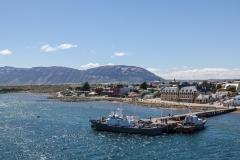 Der erste Blick auf Puerto Natales.