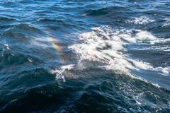 Magellanstraße - kleine Regenbogen, wenn sich die Wellen brechen