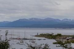 Ushuaia - Blick über den Beagle-Kanal zur chilenischen Seite.