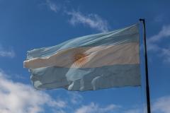 Ushuaia - irgendwie sind alle argentinischen Fahnen hier ausgeblichen