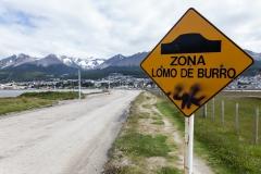 Ushuaia - die Schotterpiste ist also uneben, ach ;-)