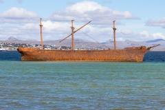 Falklandinseln - Rund um Stanley - sehr alte Wraks im Hafen